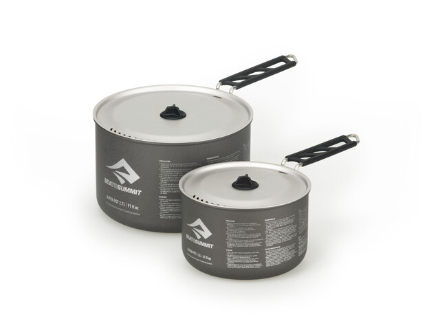 Sea to Summit Alpha Pot Set 1,2l and 2,7l Grey